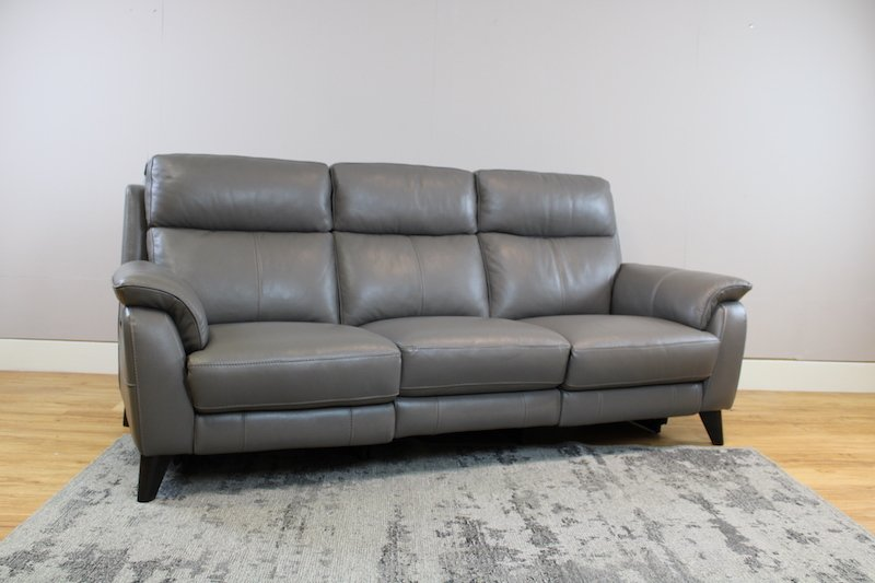 Raphael 3 seater power recliner leather sofas