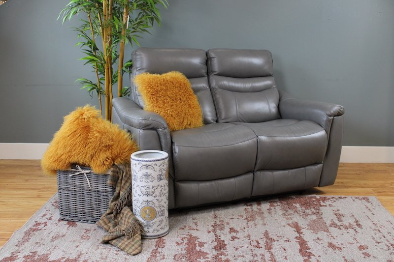 Varese 2 seater manual recliner leather sofas