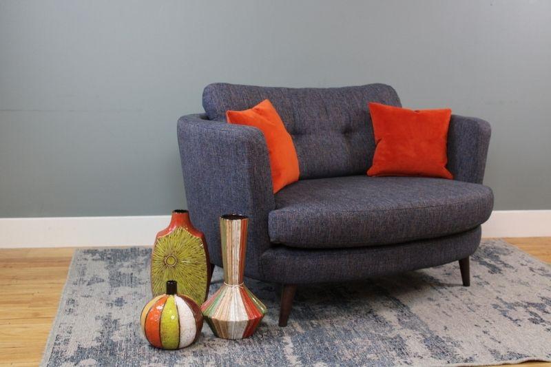 Grey Fabric Armchair