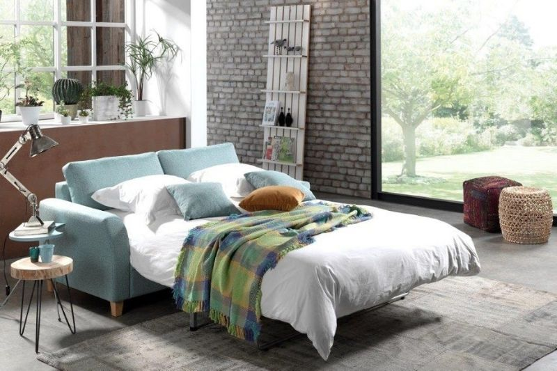 Flanagan Kerins Sofa Bed Blue Fabric