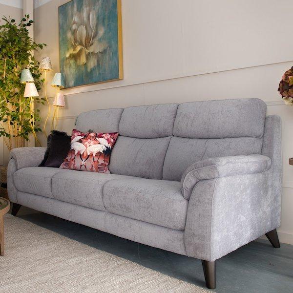 Raphael 3 Seater Fabric Sofa